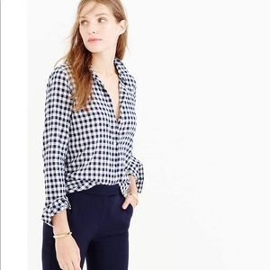 J Crew Classic-Fit Boy Shirt In Crinkle Gingham